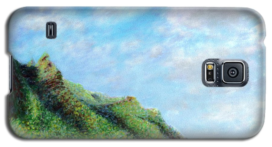Coastal Decor Galaxy S5 Case featuring the painting Tondo by Kenneth Grzesik