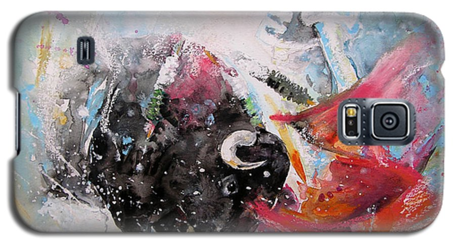 Animals Galaxy S5 Case featuring the painting Toro Tempest by Miki De Goodaboom