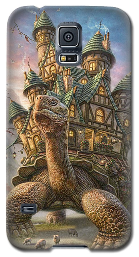 Tortoise Galaxy S5 Case featuring the mixed media Tortoise House by Phil Jaeger