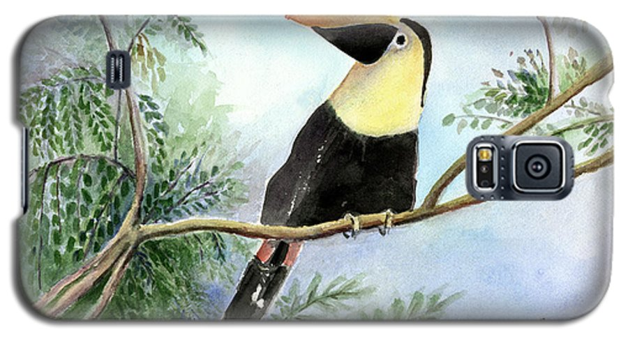 Toucan Galaxy S5 Case featuring the painting Toucan by Arline Wagner