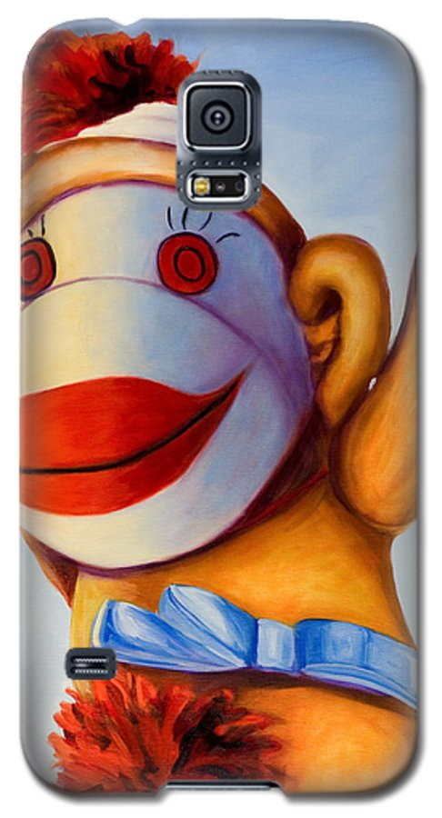 Children Galaxy S5 Case featuring the painting Touchdown by Shannon Grissom