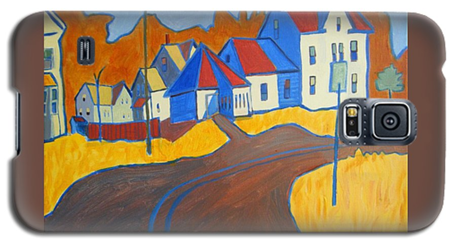 Buildings Galaxy S5 Case featuring the painting Town Center Plaistow Nh by Debra Bretton Robinson