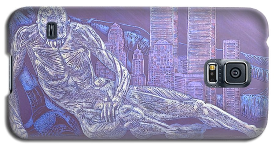 War Galaxy S5 Case featuring the painting Toy Soldiers by Judy Henninger