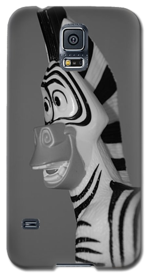 Black And White Galaxy S5 Case featuring the photograph Toy Zebra by Rob Hans