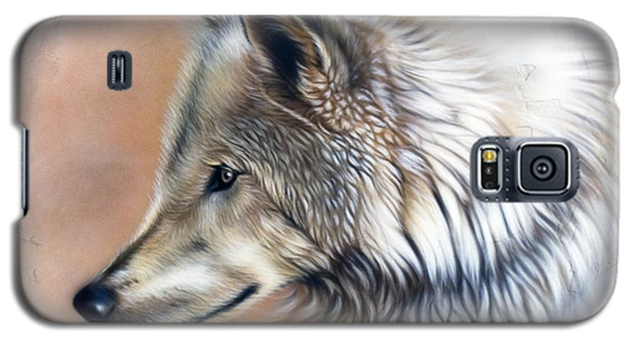 Wolves Galaxy S5 Case featuring the painting Trace IIi by Sandi Baker