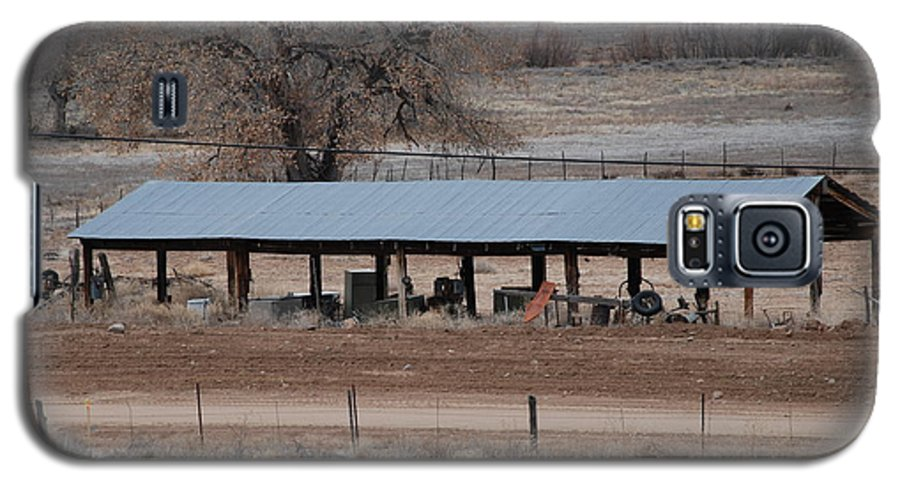 Architecture Galaxy S5 Case featuring the photograph Tractor Port On The Ranch by Rob Hans