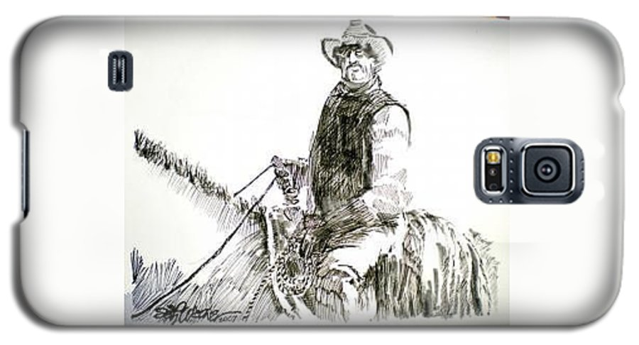 Trail Boss Galaxy S5 Case featuring the drawing Trail Boss by Seth Weaver