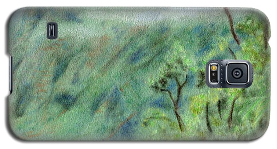 Rainbow Colors Pastel Galaxy S5 Case featuring the painting Trail's End by Kenneth Grzesik