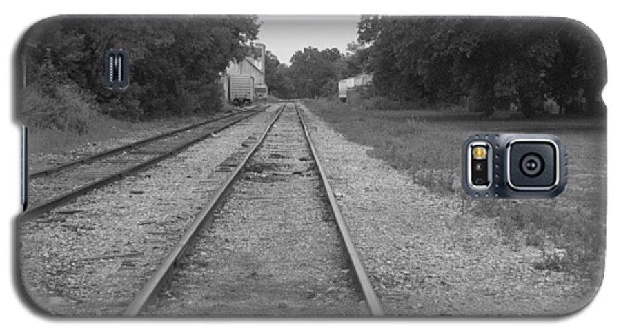 Train Galaxy S5 Case featuring the photograph Train To Nowhere by Rhonda Barrett