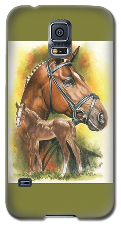 Jumper Hunter Galaxy S5 Case featuring the mixed media Trakehner by Barbara Keith