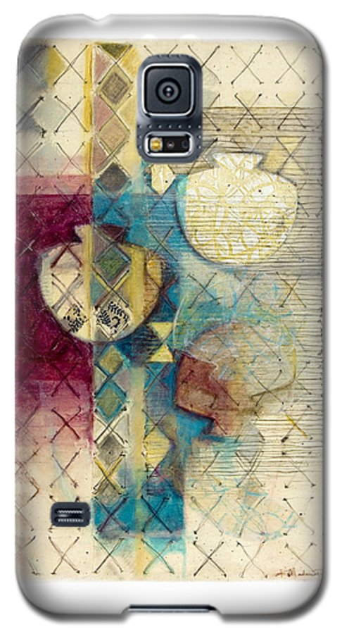 Mixed-media Galaxy S5 Case featuring the painting Trans Xs No 1 by Kerryn Madsen- Pietsch