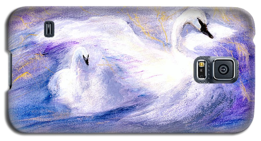 Birds Galaxy S5 Case featuring the painting Transformation by Gail Kirtz
