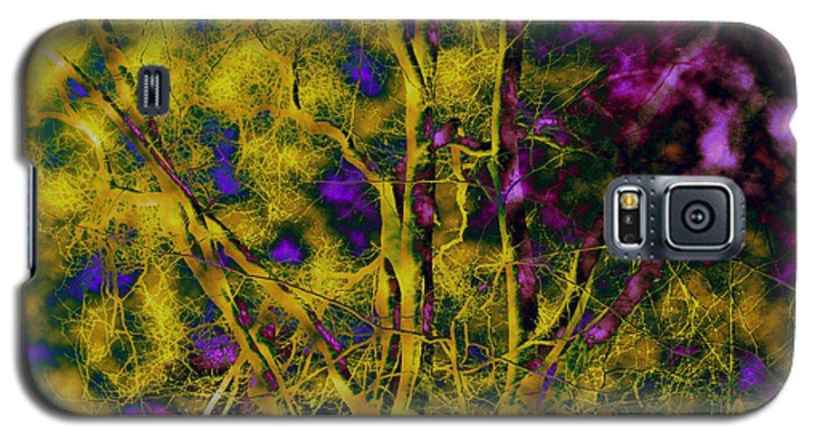 Abstract Galaxy S5 Case featuring the photograph Tree Glow by Linda Sannuti