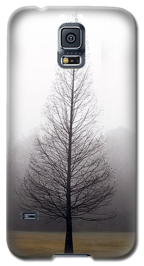 Scenic Galaxy S5 Case featuring the photograph Tree In Fog by Ayesha Lakes