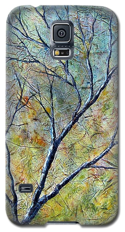 Galaxy S5 Case featuring the painting Tree Number One by Tami Booher