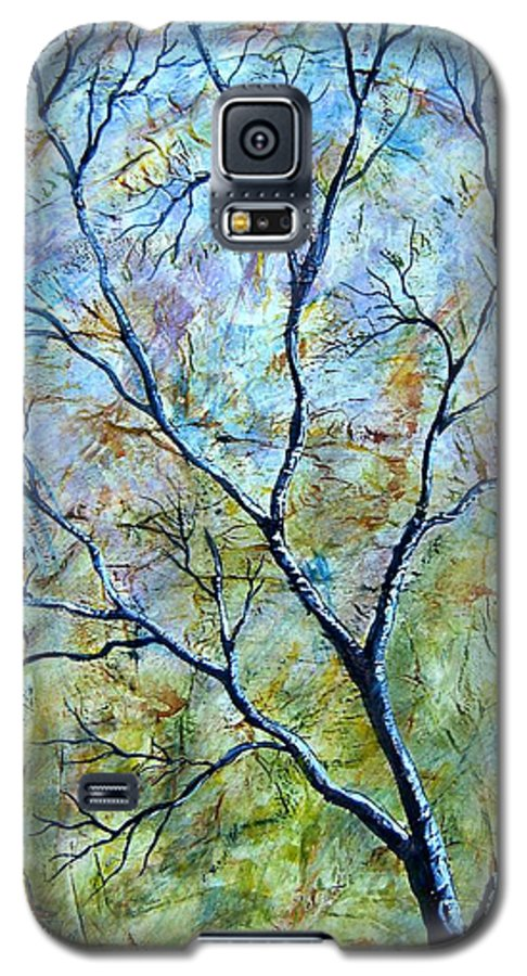 Galaxy S5 Case featuring the painting Tree Number Two by Tami Booher