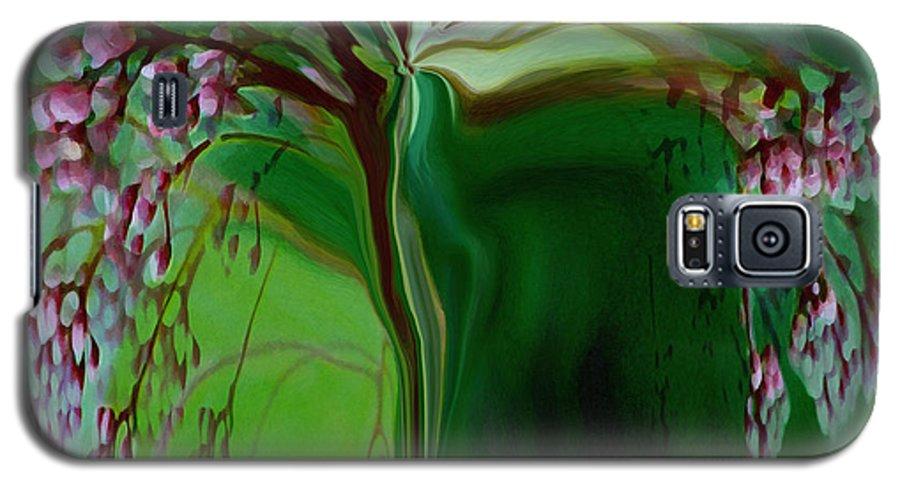 Tree Life Art Galaxy S5 Case featuring the digital art Tree Of Life by Linda Sannuti
