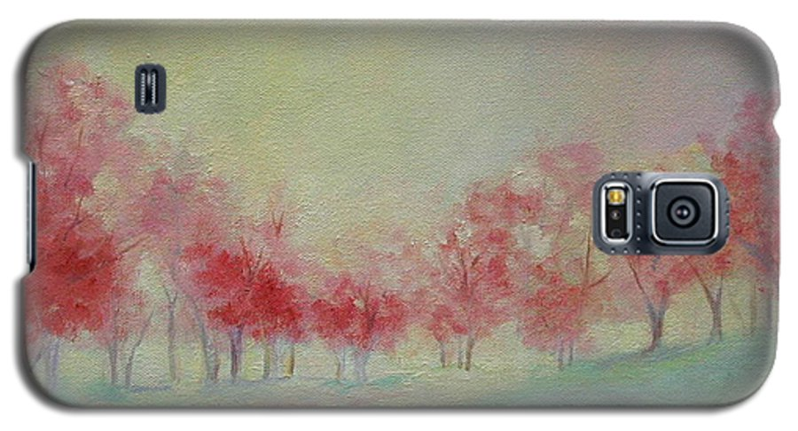 Impressionist Trees Galaxy S5 Case featuring the painting Treeline by Ginger Concepcion