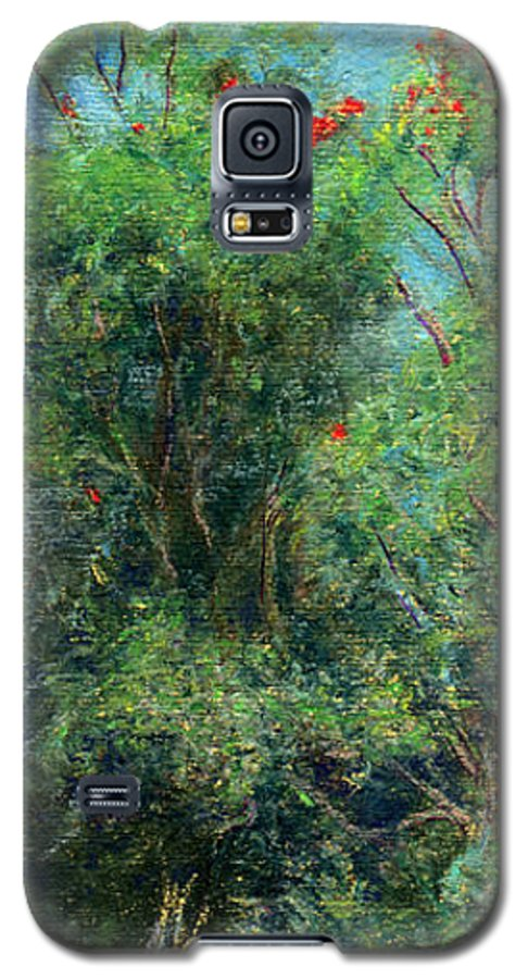 Rainbow Colors Pastel Galaxy S5 Case featuring the painting Trees Of Kokee by Kenneth Grzesik
