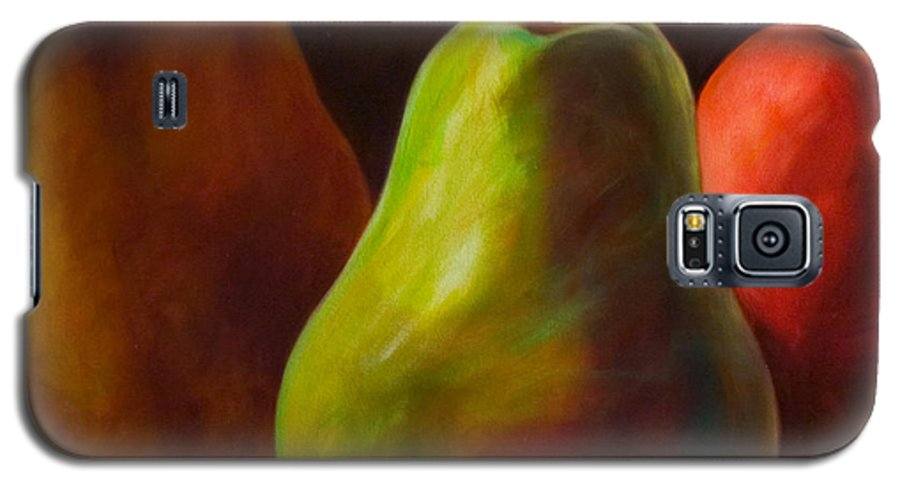 Fruit Galaxy S5 Case featuring the painting Tri Pear by Shannon Grissom