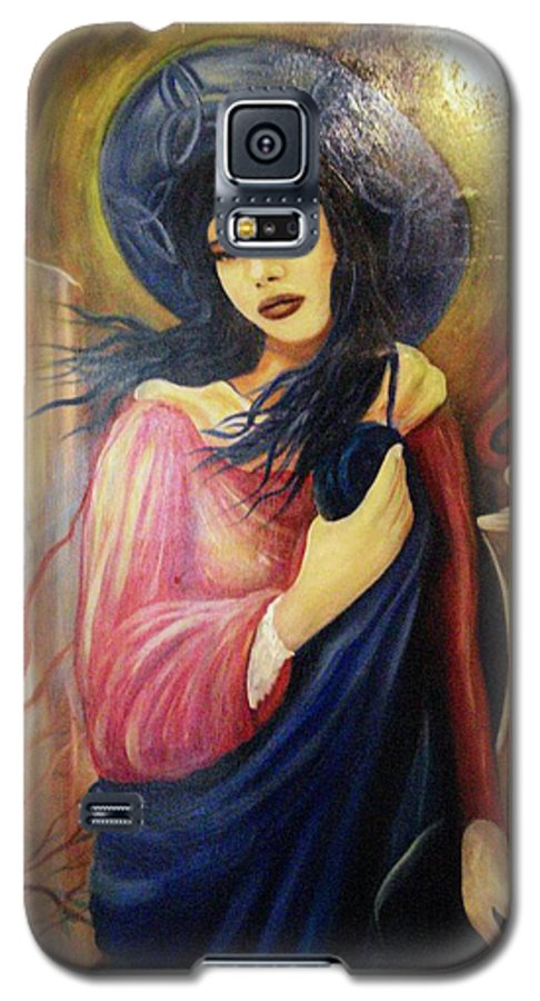 Witch Galaxy S5 Case featuring the painting Trial By Fire by Will Le Beouf