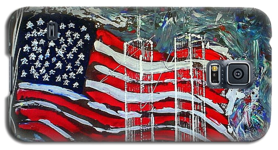 American Flag Galaxy S5 Case featuring the mixed media Tribute by J R Seymour