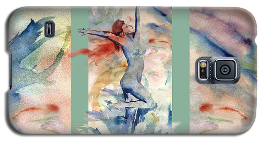 Abstract Galaxy S5 Case featuring the painting Tribute by Steve Karol