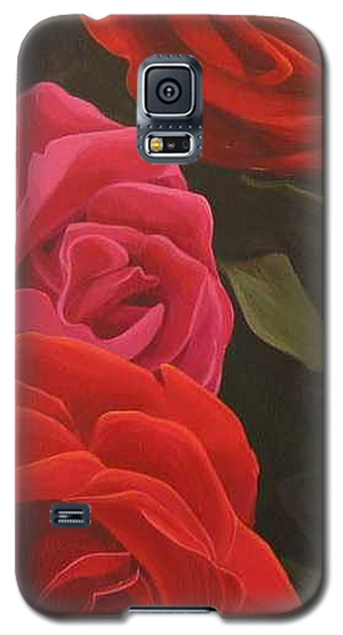 Roses In Italy Galaxy S5 Case featuring the painting Trio by Hunter Jay