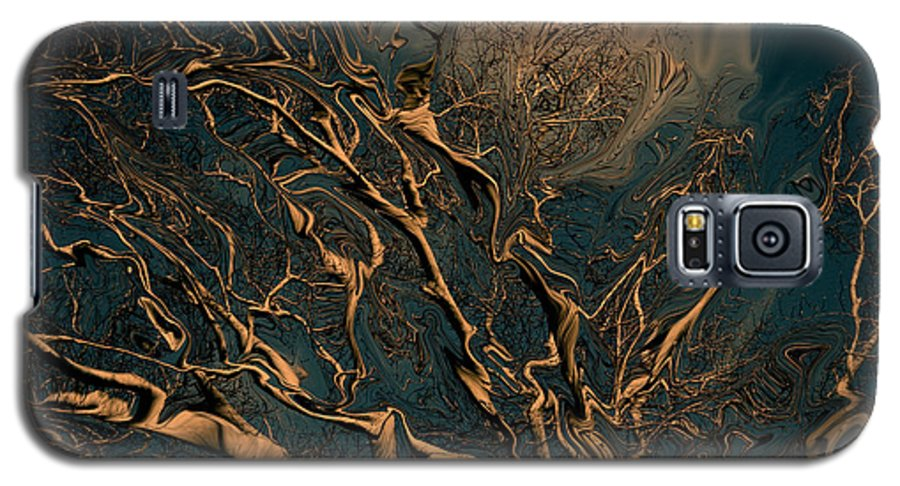 Trees Nature Abstract Digital Painting Galaxy S5 Case featuring the photograph Trippy Tree by Linda Sannuti