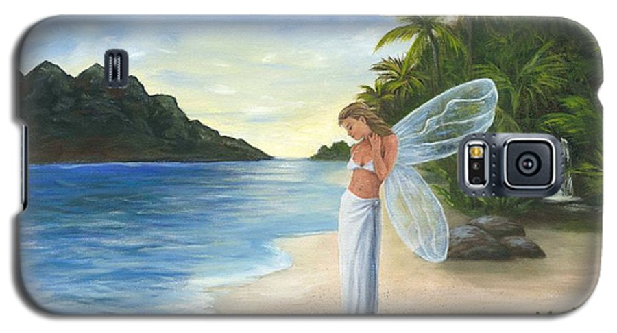 Fairy Galaxy S5 Case featuring the painting Tropical Fairy by Anne Kushnick