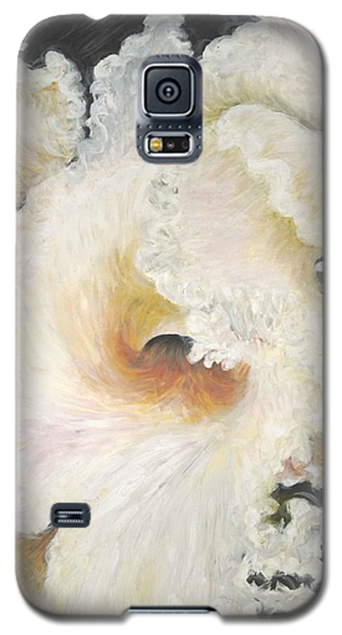 Flower Galaxy S5 Case featuring the painting Tropical Flowers by Nadine Rippelmeyer