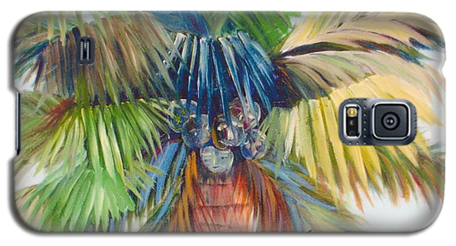 Palm Galaxy S5 Case featuring the painting Tropical Palm Inn by Susan Kubes