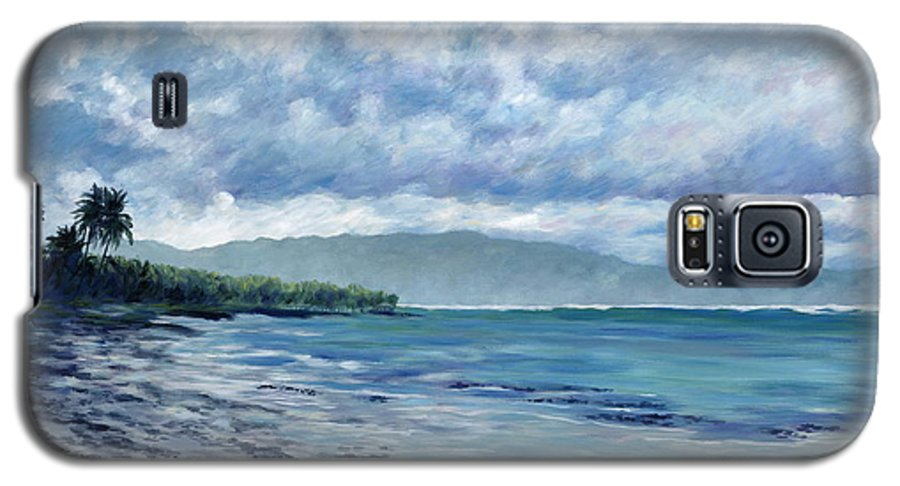 Seascape Galaxy S5 Case featuring the painting Tropical Rain by Danielle Perry