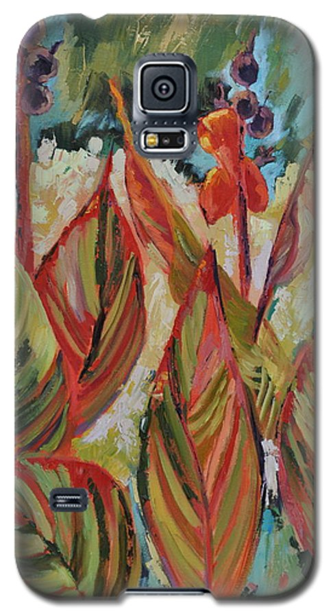 Tropicana Galaxy S5 Case featuring the painting Tropicana by Ginger Concepcion