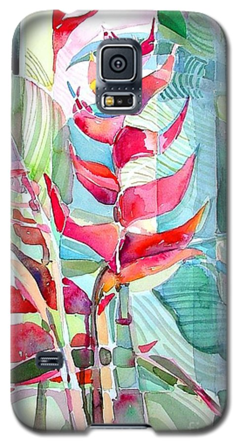 Landscape Galaxy S5 Case featuring the painting Tropicana Red by Mindy Newman