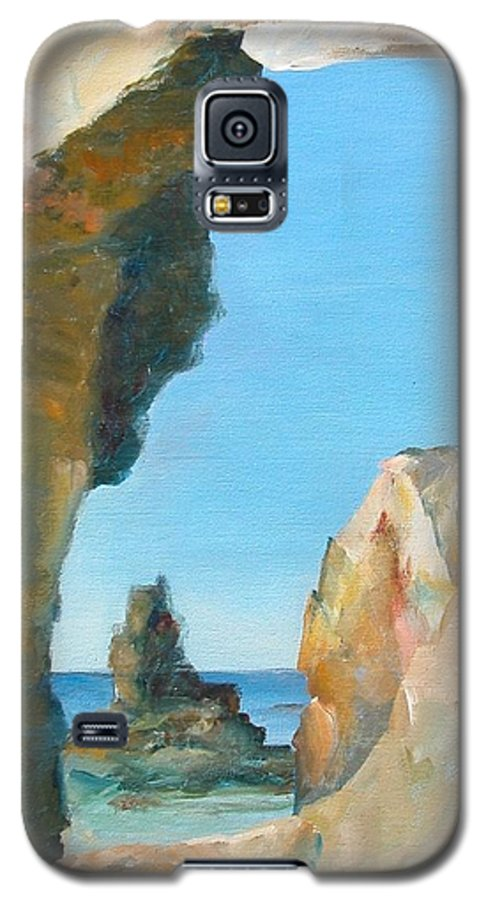 Paysage Galaxy S5 Case featuring the painting Trouee 1 by Muriel Dolemieux