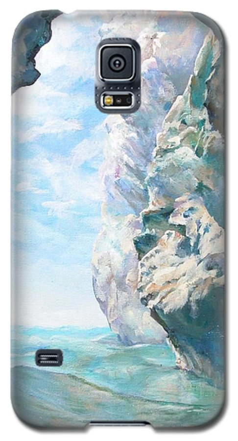Landscape Paintings Galaxy S5 Case featuring the painting Trouee 2 by Muriel Dolemieux