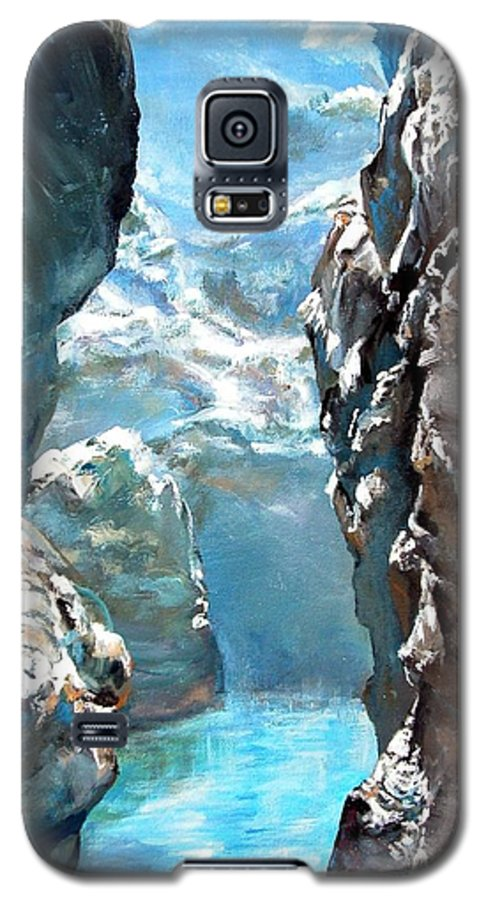 Landscape Galaxy S5 Case featuring the painting Trouee 3 by Muriel Dolemieux