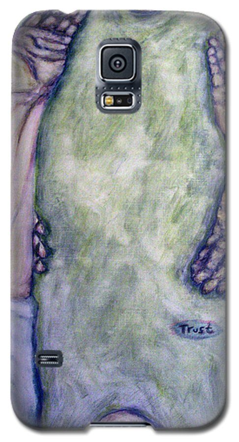Evocative Expressionism Galaxy S5 Case featuring the painting Trust by Stephen Mead