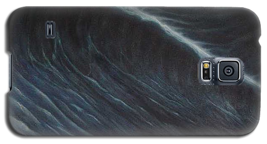 Seascapes Galaxy S5 Case featuring the painting Tsunami by Angel Ortiz