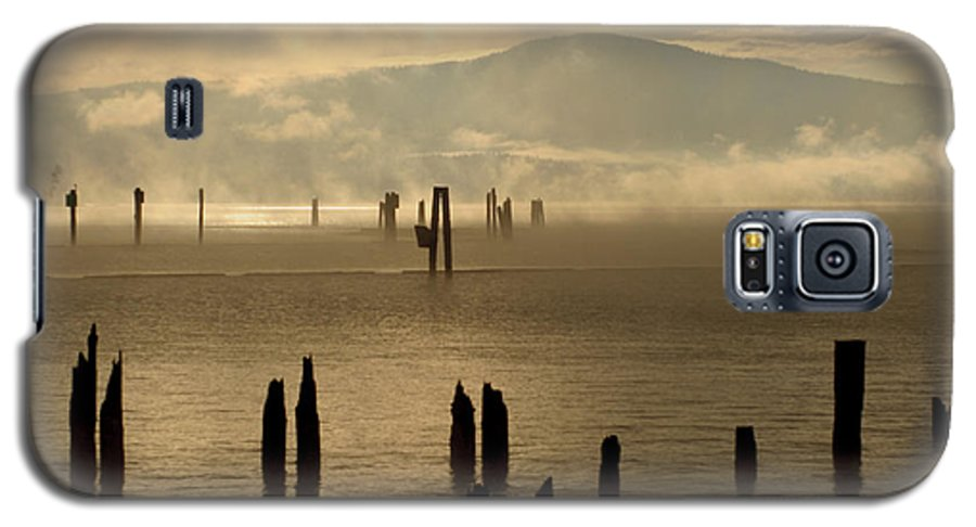 Tugboat Galaxy S5 Case featuring the photograph Tugboat In The Mist by Idaho Scenic Images Linda Lantzy