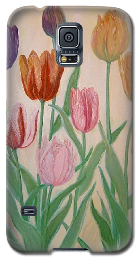 Flowers Of Spring Galaxy S5 Case featuring the painting Tulips by Ben Kiger