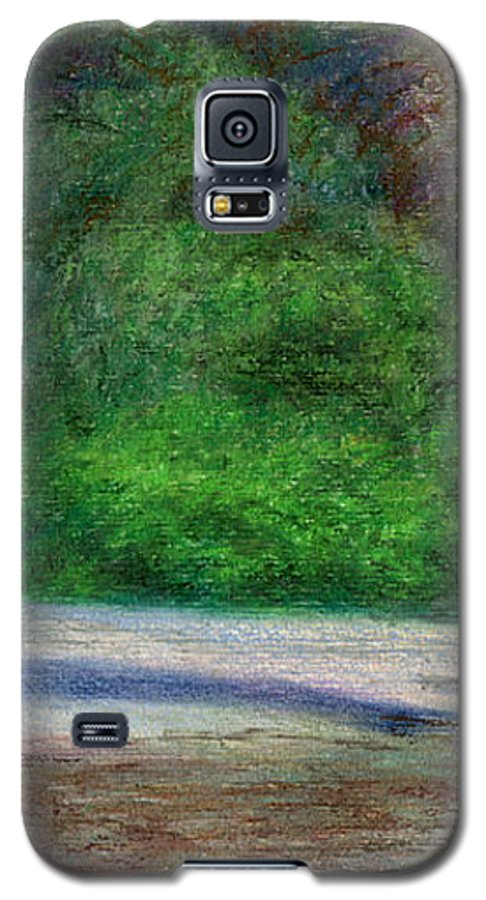 Rainbow Colors Pastel Galaxy S5 Case featuring the painting Tunnels Beach by Kenneth Grzesik