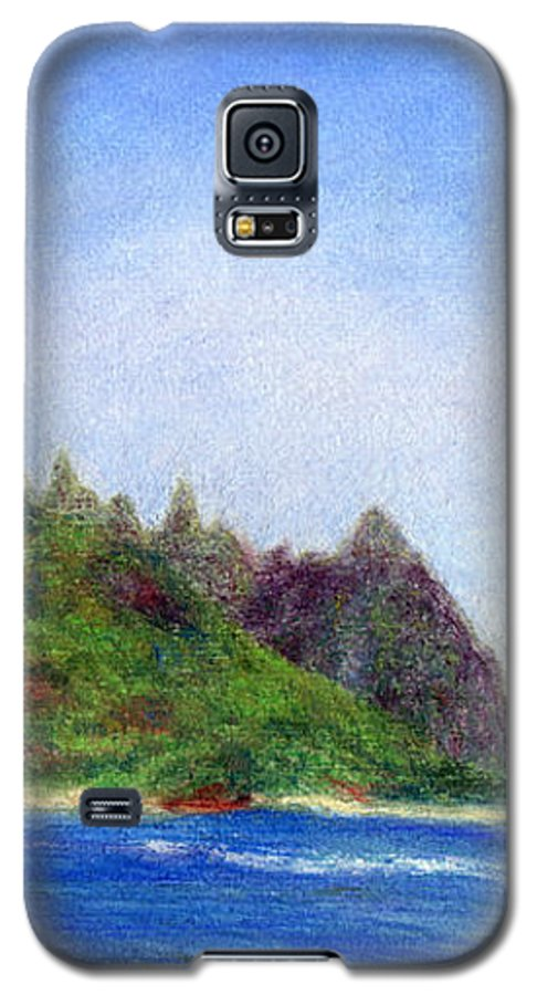Rainbow Colors Pastel Galaxy S5 Case featuring the painting Tunnels Beach View by Kenneth Grzesik