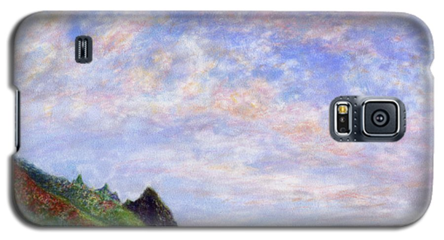 Rainbow Colors Pastel Galaxy S5 Case featuring the painting Tunnels Vision by Kenneth Grzesik