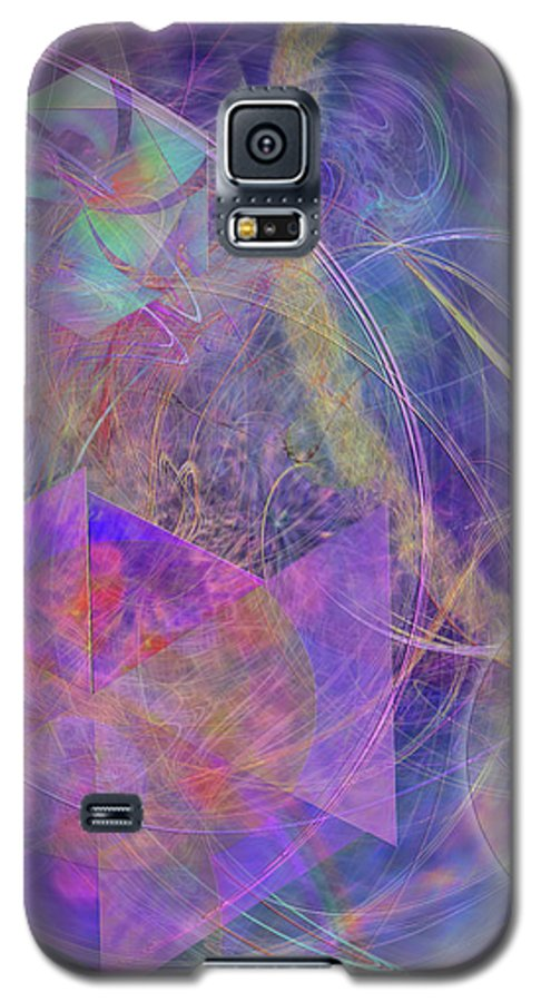 Turbo Blue Galaxy S5 Case featuring the digital art Turbo Blue by John Beck