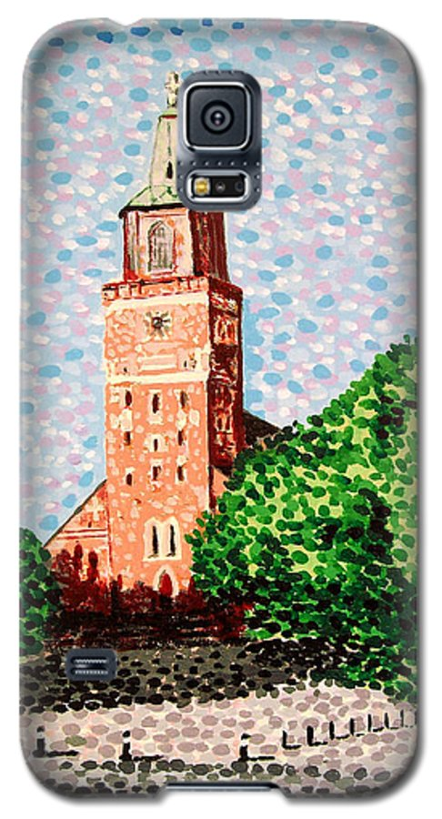 Finnish Galaxy S5 Case featuring the painting Turku Cathedral by Alan Hogan
