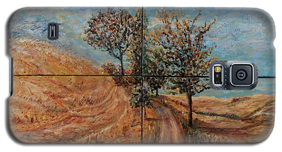Landscape Galaxy S5 Case featuring the painting Tuscan Journey by Nadine Rippelmeyer
