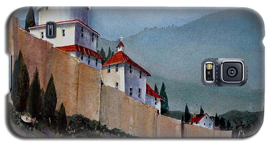 Tuscan Galaxy S5 Case featuring the painting Tuscan Lane by Charles Rowland