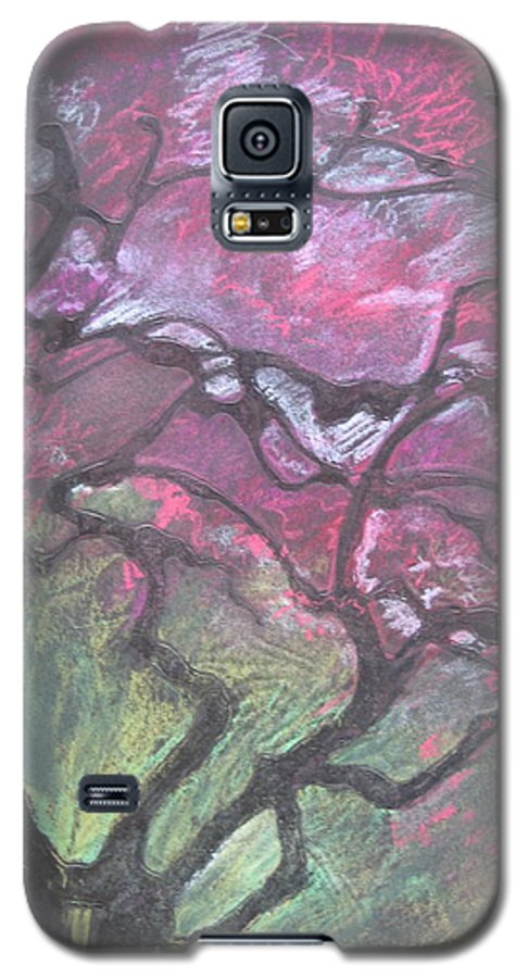 Pastel Galaxy S5 Case featuring the drawing Twisted Cherry by Leah Tomaino
